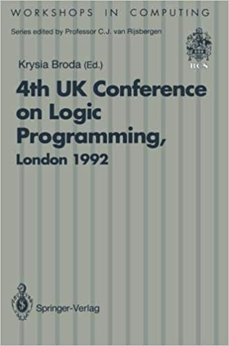 ALPUK92: Proceedings of the 4th UK Conference on Logic Programming, London, 30 March – 1 April 1992