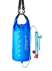 LifeStraw Mission Water Purification System, High-Volume Gravity-Fed Purifier for Camping and Emergency Preparedness, 12 Liter