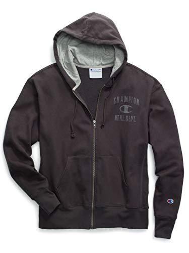 Champion Men's Heritage Fleece Full Zip, Grey Scarf, Medium ()