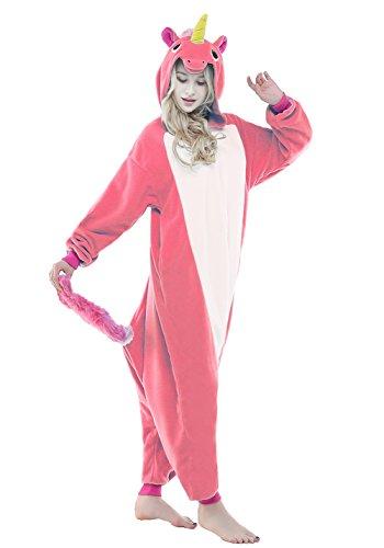 NEWCOSPLAY Unisex Adult Unicorn Pajamas- Plush One Piece