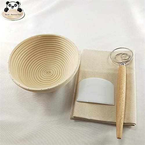 Best Quality - Pastry Blenders - Best banneton bread fermentation basket 9 inch Round Indonesia rattan Bread bowl set combination - by Tini - 1 PCs by HIBISCUS. (Image #7)