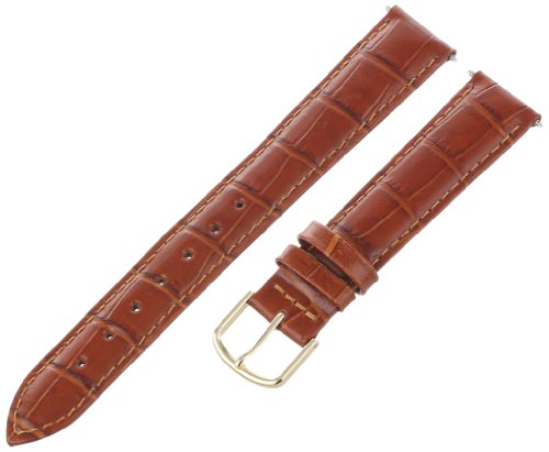 Voguestrap TX45318LHN Allstrap 18mm Honey Long-Length Padded Crocodile Calf Watchband