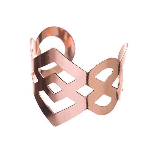 (Ella Celebration Metal Napkin Ring Holders for Wedding, Bulk Napkin Rings, Rose Gold Set of 12 (Rose Gold))