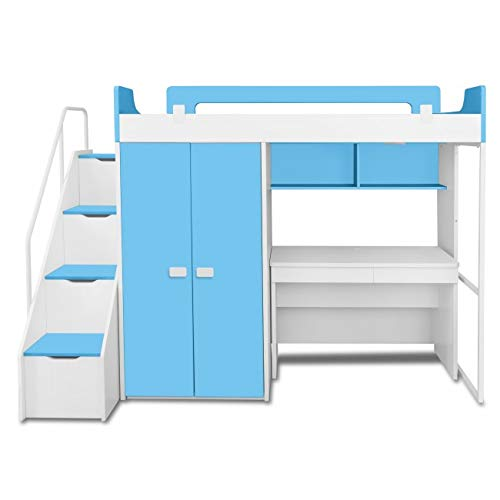 Lillyput Interio Kid S Hardwood Bunk Bed With Wardrobe And Study Table Amazon In Home Kitchen
