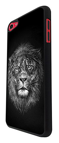 003295 - Lion Face The King Design For Apple ipod Touch 5 Fashion Trend CASE Back COVER Plastic&Thin Metal - Black (5 Lion Case Ipod Touch King)