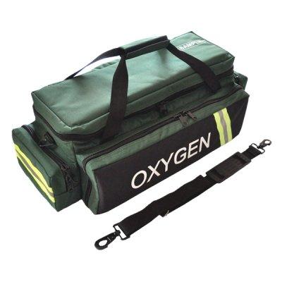 (LINE2design EMS Oxygen Bag - Standard Medical Bag Adjustable Divider with Shoulder Strap - Green)