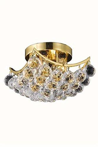 Taillefer Gold Modern 4-Light Semi Flush Mount Swarovski Spectra Crystal in Crystal (Clear)-8330F10G-SA--10