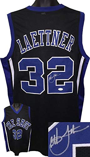 bdc7a372ee5a Christian Laettner Signed Jersey - Black Custom Stitched College Basketball  The Shot XL Witnessed Hologram -
