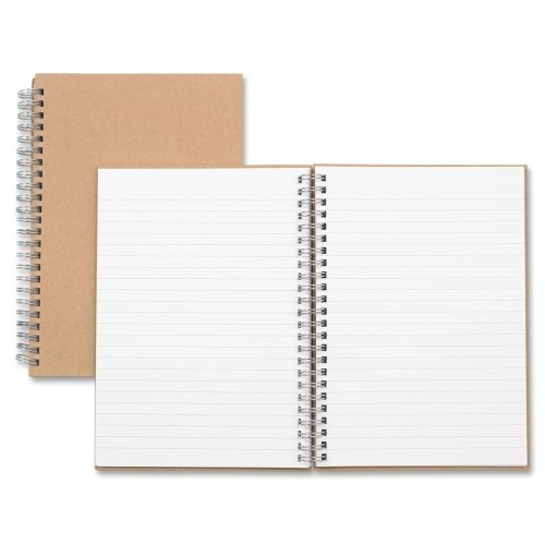 Nature Saver Recycled Notebook - Nature Saver 20205 Hardcover Notebk, Twin Wire, 80 Shts, 8-1/4