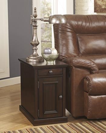 Ashley Furniture Signature Design - Laflorn Chairside End Table - Rectangular - Sable Brown