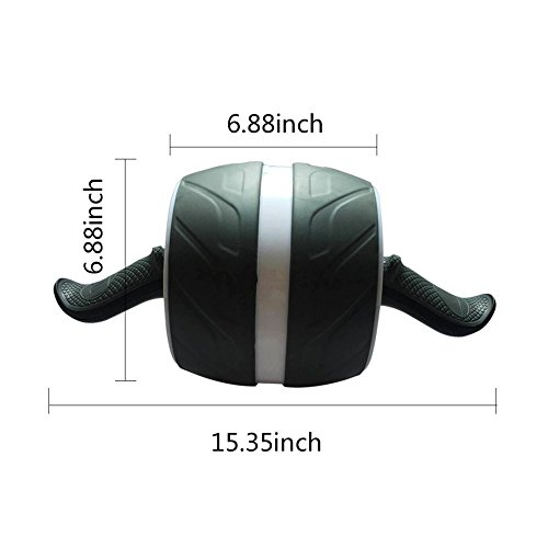 Mingence Ab Abdominal Back Muscles Wheel Exercise Roller With Extra Thick Knee Pad Mat and Comfort Foam Handles Great Fitness Core Workout for Abs Wheel Gym Tool Home Gym Set