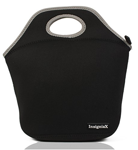 Neoprene Lunch Bag: InsigniaX Cool Lunch Box/Cooler/Lunchbox for Adult Women Men Work School Kids Girls Boys SizeH: 11.8