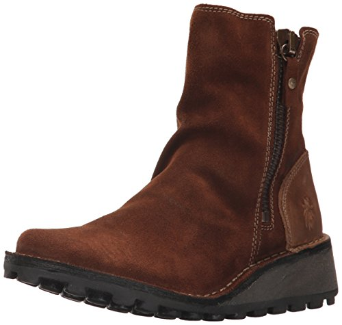FLY London Women's MONG944FLY Ankle Boot, Camel Oil Suede/Rug, 37 M EU (6.5-7 US) ()