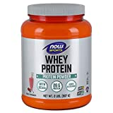 NOW Sports Whey Protein, Creamy Strawberry, 2-Pound