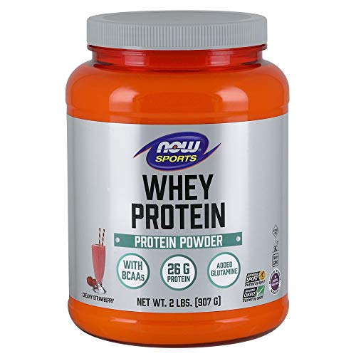 - NOW Sports Whey Protein, Creamy Strawberry, 2-Pound