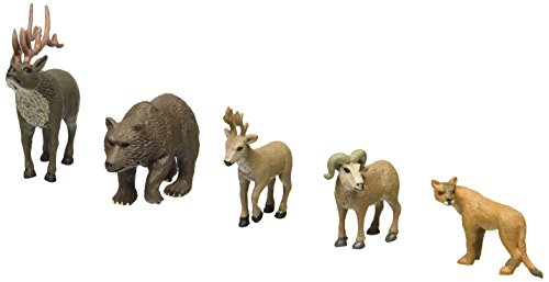 Woodland Scenics SP4449 1.5-Inch Scene Setters Figurine, North American Wildlife, - American Wildlife Display