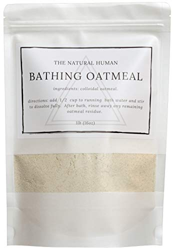 The Natural Human Bathing Oatmeal, Fine 1lb (16oz)