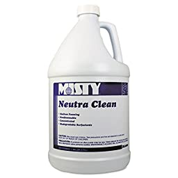 Misty R8004CT Neutra Clean Floor Cleaner, Fresh Scent, 1gal Bottle (Case of 4)
