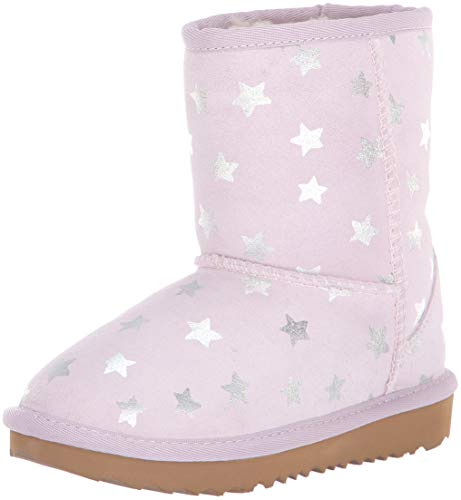 UGG Girls' T Classic Short II Stars Fashion Boot, Lilac, 7 M US Toddler (Ugg Star)