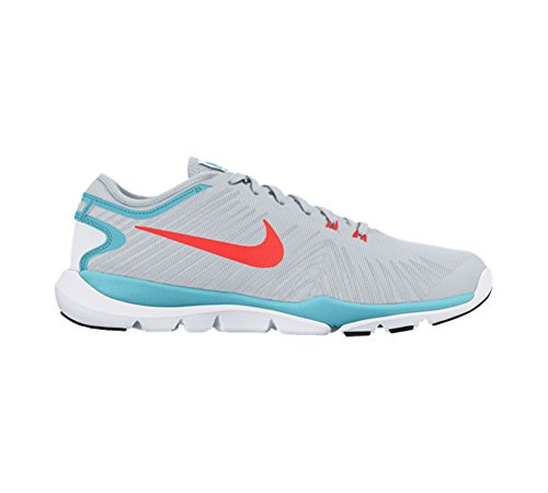 Nike Frauen Flex Supreme TR 4 Cross Trainer Reines Platin / Total Crimson / Gym Blue