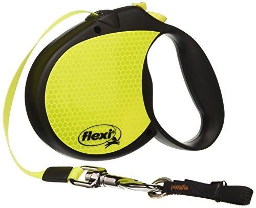 Flexi Neon Retractable Dog Leash (Tape), 16 ft, Large, -