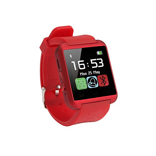 RELEE Fitness Tracker Watch,Activity Tracker with Smart Watch for Kids Women Men Phone Mate with iPhone Android Samsung HTC LG (Red) (Watch U8)