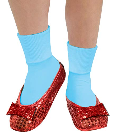 Rubie's Wizard Of Oz Deluxe Adult Dorothy Sequin Shoe Covers, Red, One Size Fits Most (Ruby Slippers Shoe Covers)
