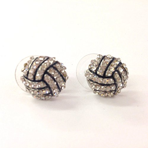Rhinestone Volleyball Stud Earrings / Gift for Sports Mom / Spots Team / Gift for Her/volleyball Mom /Fashion ()