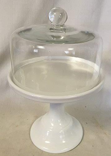 シンプルなベーカリー ケーキ プレート スタンド ケーキドーム付き - Mosser ガラス 10