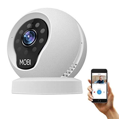 MobiCam WiFi Wireless Baby Camera Monitor, HD Security Video, Two-Way Talk, Night Vision, Remote Surveillance from MOBI