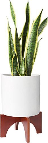 Mkono Plant Stand Wood Mid Century Flower Pot Holder Home Decor 12 inch (Planter Not Included) by Mkono