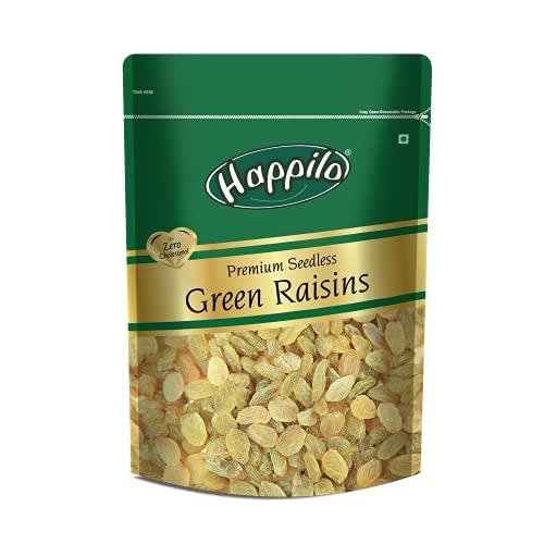 Happilo Premium Seedless Green Raisins Pouch, 125 g