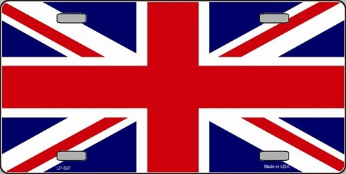 Britain Union Jack Flag Vanity Metal Novelty License Plate Tag Sign