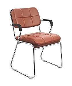 Da URBAN Study Chair with arms (Brown) (1 Pc)-ISO & BIFMA Certified