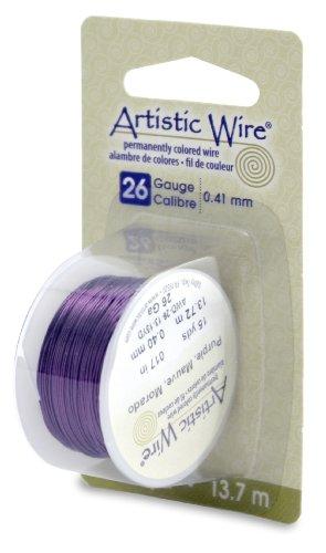 Artistic Wire 26-Gauge Purple Wire, 15-Yards