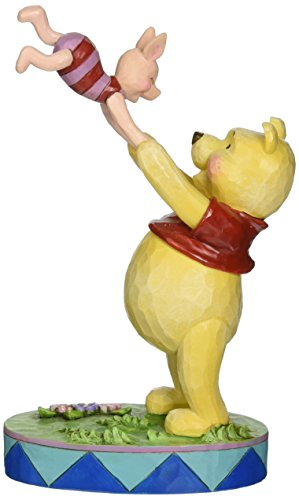 Jim Shore for Enesco Disney Traditions Pooh and Piglet Figurine, 7.28