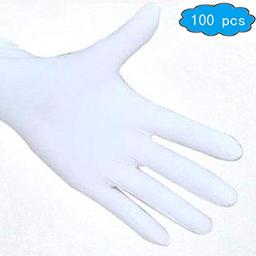Disposable Nitrile Gloves,Disposable, Ultra-Strong, Fluid, Blood, Exam, Healthcare, Food Handling Use | No Powder,Industrial & Scientific,Household Supplies (Color : White, Size : M) from ACMM