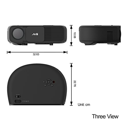 Artlii Portable Hd Home Theater Support 1080p Lcd: 720P HD Projector,Artlii LCD LED Video Projector,Portable