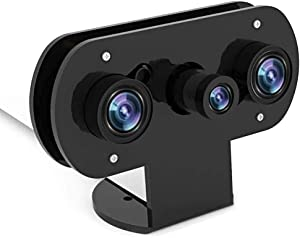 for Raspberry Pi, Infrared Night Vision IR Camera with Acrylic Holder Case, Adjustable-Focus Webcam for Pi 4/Pi 3 B+/Pi 3, Suit for Home Security Monitors, DIY, 3D Printer