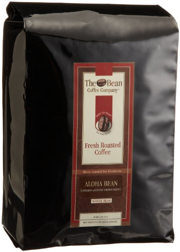 The Bean Coffee Company, Aloha Bean (Hawaiian Hazelnut) Whole Bean Coffee, 5-Pound Bags