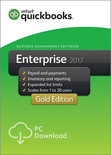 QuickBooks Desktop Enterprise 2017 Gold Edition Business Accounting Software 5-User [Old Version]