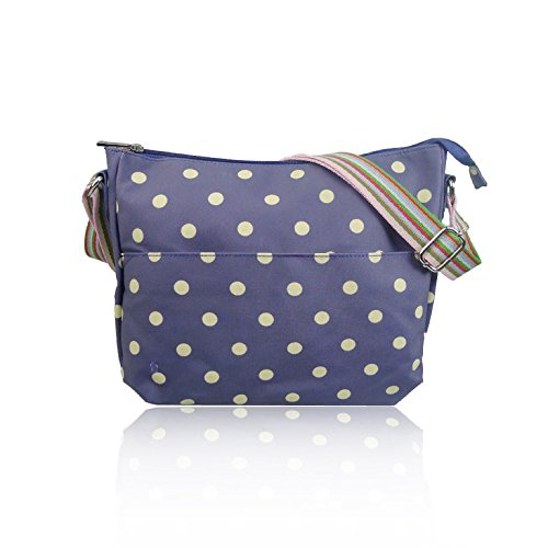 Polka Oilcloth Dot Spotty Bag Handbag Ladies Purple Matte Messenger Fashion 6q7pZqwnx