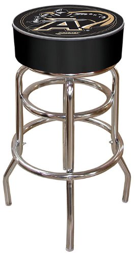NCAA Army Padded Swivel Bar Stool Black Knight Chrome Pool Table
