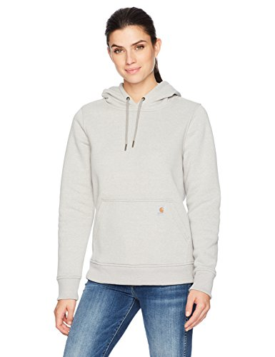 Carhartt Women's Clarksburg Pullover Sweatshirt, Asphalt Heather, XXL