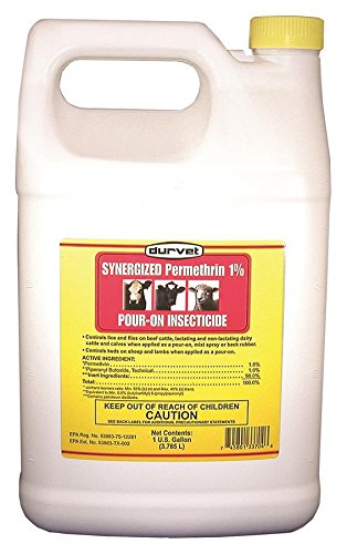(DURVET FLY 003-3704 053603 Synergized Permethrin 1% Pour-On Insecticide, 1 Gallon)