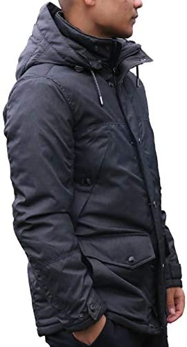 Giacche S4 Giacca Invernale Shelter Attraente Giacca da Uomo con Cappuccio Regolabile Antracite