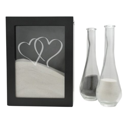 (Cathy's Concepts Heart Design Sand Ceremony Shadow Box, Black)