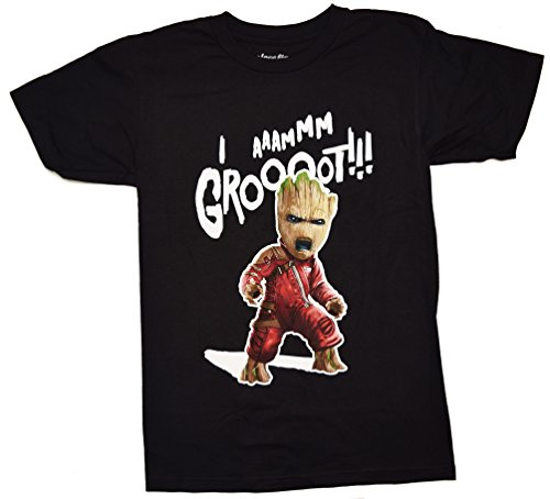Guardians Of The Galaxy Vol. 2 I am Groot! Ravager T-shirt (Extra Large , Black) - Disney Guardians Of The Galaxy