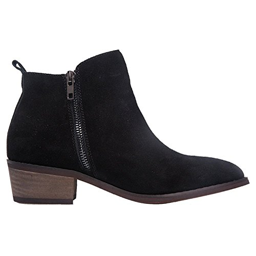 SheSole Ladies Womens Suede Ankle Boots Black Camel Shoes Size UK 3-9 New Black pSnwvHTuo