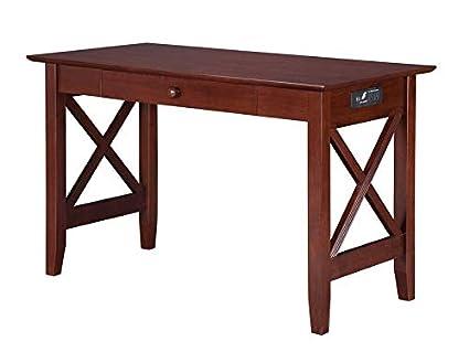 Image Unavailable - Amazon.com: Wood Desk With Square Legs - Rectangular Writing Desk